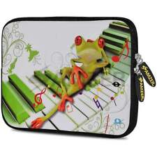 """Amzer 10.5"""" Neoprene Sleeve Case Cover Pouch For Tablet Netbook - Relaxing Frog"""
