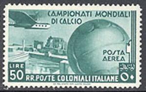 Italian Colonies 1934 World Cup Airmails Sc# C29-35 mint