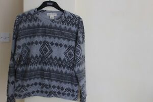 Women's Staring at Stars Urban Outfitters Grey Patterned Jumper - Size XS