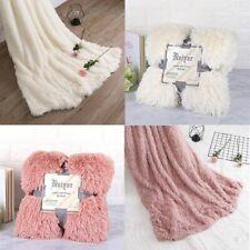 Big Fuzzy Blanket Thick Warm Huge Fluffy Throw Blankets Bedding White Pink Black