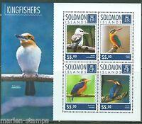 SOLOMON ISLANDS  2014  KINGFISHERS  SHEET  MINT NH