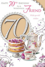 XPRESS YOURSELF FEMALE FRIEND - AGE 70 TODAY! - 70TH BIRTHDAY CARD - CS75051