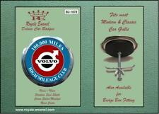 Royale Voiture Grill Badge VOLVO High Mileage Club 100,000 Mi B2.1878