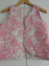 Embroidered Cotton Vest Handmade One Size