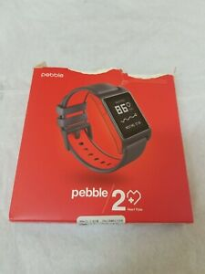 Pebble 2 + Heart Rate Black/Flame Polycarbonate -Open Box