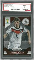 2014 Panini Prizm FIFA WC Brasil RC #93 THOMAS MULLER ~ BSG Graded 9
