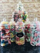 Really Pretty Dodecagon Filled Pick n Mix Sweet Jars Ideal Present