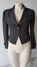 SPRING SALE - Plus Size Dark Grey Chic Short Suit Jacket Size 14 BNWT