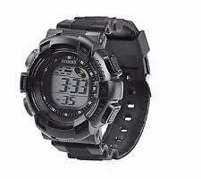Big Dial Kids Boys Wristwatch Alarm Chronometer Digital Wrist Watch Black CD