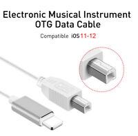 iOS12 OTG Audio Cable For iPhone XS 6 8 to MIDI USB Keyboard Electric Piano Drum