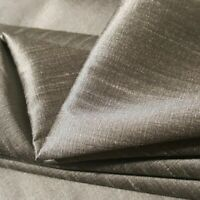 "MOCHA STEEL TAUPE FAUX SILK DUPIONI FABRIC TWO TONE IRRIDESCENT 60"" BY THE YARD"