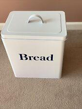 White Metal Bread Bin