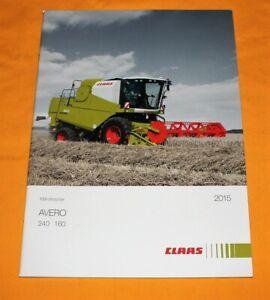 Claas Avero 2015 Mähdrescher Prospekt Combine Brochure Catalogue Depliant
