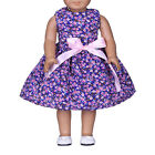 New Purple Flower Bow Clothes Dress For 18inch Doll Party