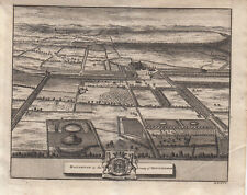 Haughton County of Nottinghamshire Park Orig Copper Plate Great Britain 1690