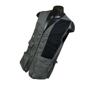 New Bob Allen Shooting Vest Size M Medium Gray Black Cotton Safari Photography