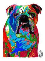 English Bulldog Poster Print Wall Art 8.5x11