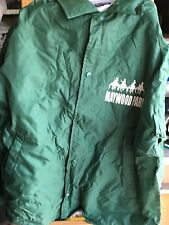 maywood park race track vintage large green jacket