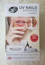 Rio Gel Nail Extensions UV Lamp Kit & Professional Manicure Tips Set NEW