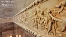 1x Relief Dekorstreifen Griechische Stuck gips Groß Wandrelief Skulptur Greek