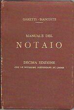 MANUALE NOTAIO HOEPLI GARETTI BIANCONI 1924