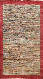 Striped Modern Gabbeh Oriental Area Rug Wool Handmade Contemporary Carpet 6x8 ft