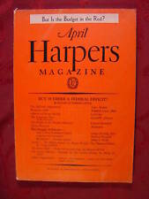 HARPER's April 1938 EUGENE WRIGHT CLAYTON HAMILTON LOUIS ADAMIC GEORGE SHEPHERD