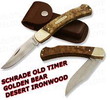 Schrade Old Timer IRONWOOD Golden Bear Lockback 6OTW