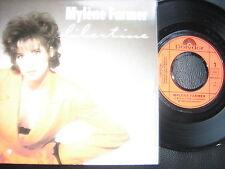 """45T mylene farmer libertine 1 ere pochette """"veste orange""""en tres bon état"""