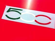 1 Adesivo Resinato Sticker 3D FIAT 500 tricolore