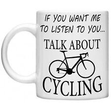 Mountain BIKE BICI LOVERS parlare di ciclismo DIVERTENTE SPORT FITNESS 11oz Tazza Regalo