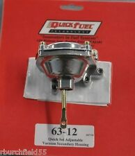 Quick Fuel 63-12 Carburetor Adjustable Vacuum Advance Secondary Housing Aluminum