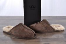 NEW Ugg Australia Men's Scuff Slippers Size 9 Espresso Suede Sheepskin 5776 NIB