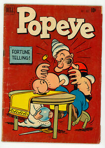 JERRY WEIST ESTATE: POPEYE #18 (VG) & 61 (VG+) (Dell 1951-61) NR!