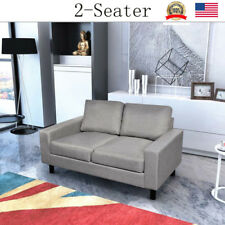 Couch Bed Sofa Sleeper Living Room Furniture Loveseat Guest 2-Seater Light Gray