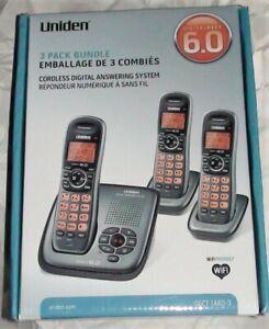 Uniden DECT1480-3 1.9 GHz Trio Handsets Single Line Cordless Phones New