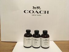 New Sealed Coach Fabric Cleaner 4oz./Leather Cleaner 4oz./Moisturizer 4oz. each
