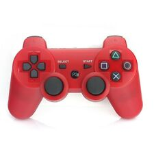 Red Bluetooth Wireless Double shock Vibration Controller Remote Console for PS3