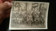 WWII ORIGINAL JAPANESE PHOTO  ☆ RARE GENERALS AND COLONEL ☆SWORD SAMURAI ANTIQUE