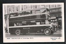 Redcar Double Decker Bus at Tunbridge Wells Kent 1970's? Postcard ~ LARGE FORMAT