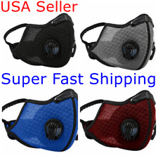 Face Mask Mesh Cover Dual Air Valve Covering Reusable +1 Activated Carbon Filter