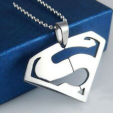 Superman Necklace Steel - Real Man Locket Pendant For Men & Women GIFT