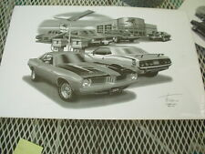 "1974 Baracuda, Thom SanSoucie Signed Print #4106, 11"" x 17"""