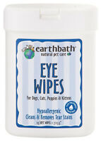 Earthbath Natural Pet Care Eye Wipes Dog Cats Hypoallergenic Removes Tear Stains
