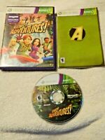 Kinect Adventures! (Microsoft XBox 360) Disc, Book, Case - Free Shipping - Used