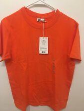 NEW Uniqlo U Lemaire Crewneck Cotton Short Sleeve T-Shirt Men XS Bright Orange