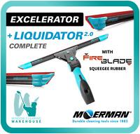 Moerman Excelerator + Liquidator 2.0 Combo with RazrBLADE Red Rubber Squeegee