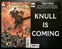 🔥🕸 WEB OF VENOM EMPYRES END #1 SET OF 2 Main Cover + Knull Is Coming NM