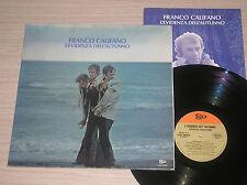 FRANCO CALIFANO - L'EVIDENZA DELL'AUTUNNO - LP 33 GIRI 1a STAMPA CON BOOKLET