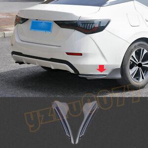 2020-2022 For Nissan Sentra ABS Gray Rear Bumper Side Corner Spoiler Trim 2pcs